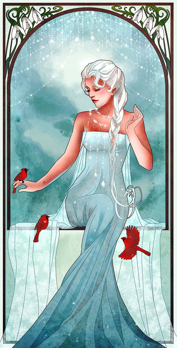 Mucha-Inspired Disney Princesses Are Just Lovely - thinking these would be awesome as a tattoo!!