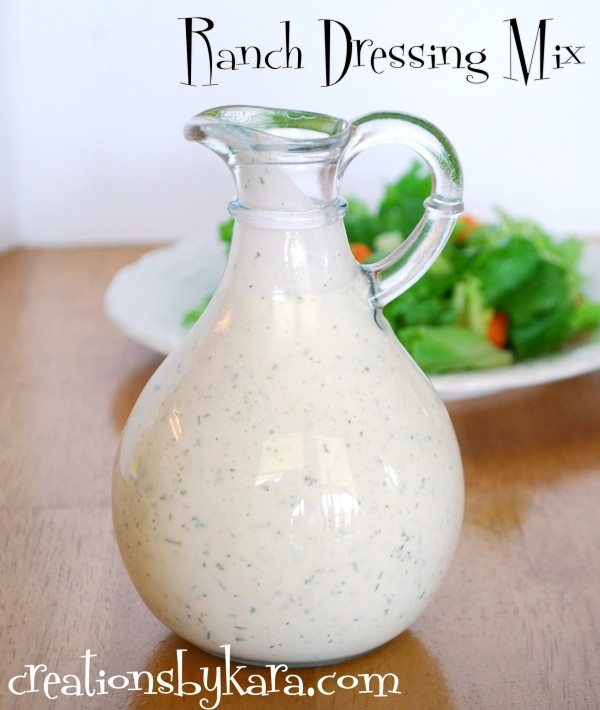 Homemade Ranch Dressing Mix from creationsbykara.com. I am a salad dressing snob--this recipe is the reason. #ranch #dressing #recipe