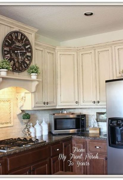 her hubby finally caved in and agreed to her idea and wait until you see their kitchen now chalk paint kitchen cabinetscountry