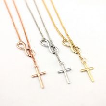 2016 Hot Selling Gold Filled Infinity Lariat Cross Y Necklace for Women Fashion Christian Jewelry Wholesale N3151 //Price: $US $9.22 & FREE Shipping //     #hashtag2