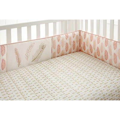 Levtex Baby Coral Little Feather 4 Piece Crib Bumper in Baby,Nursery Furniture,Other Nursery Furniture | eBay