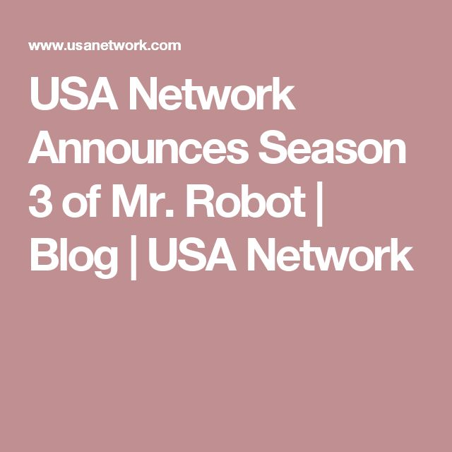 USA Network Announces Season 3 of Mr. Robot | Blog | USA Network