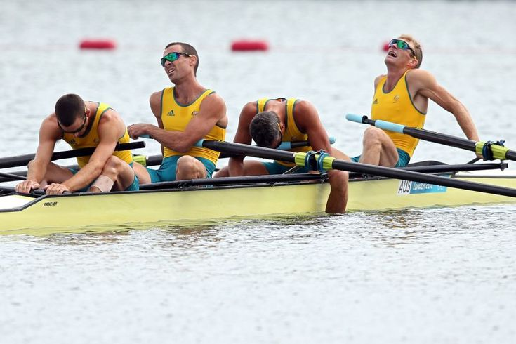 Australia's lightweight four are shattered after missing a medal - Australia's Todd Skipworth, Benjamin Cureton, Samuel Beltz and Anthony Edwards are shattered after missing a medal in the lightweight men's four final at the London 2012 Olympic Games on August 2, 2012. Read the story    Getty Images: Ezra Shaw