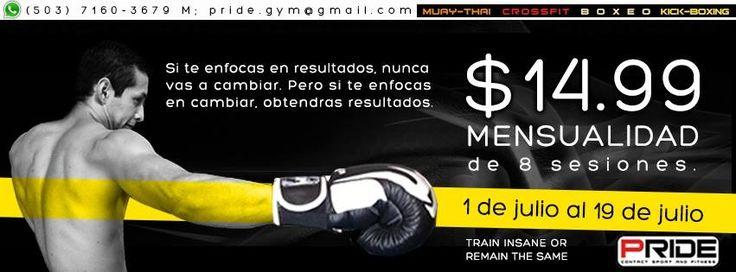 ¡Clases de kick boxing! Promoción $14.99 mensualidad de julio 2013