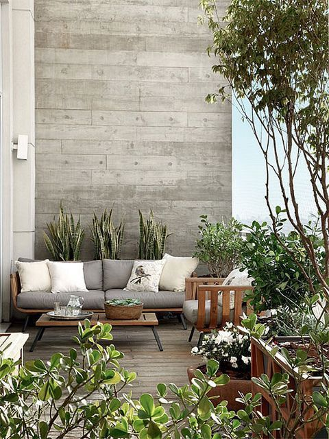 Diseño de patios, terrazas y jardines modernos con fotos