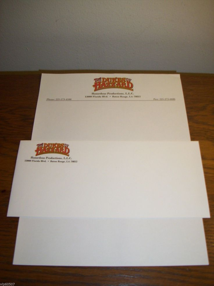"""nice RARE ORIGINAL """"THE DUKES OF HAZZARD"""" 2005 MOVIE LETTERHEAD AND ENVELOPE   Check more at http://harmonisproduction.com/rare-original-the-dukes-of-hazzard-2005-movie-letterhead-and-envelope/"""