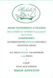 Menù Pausa Pranzo da Ristorate Pizzeria Da Michele a Marina di Pietrasanta