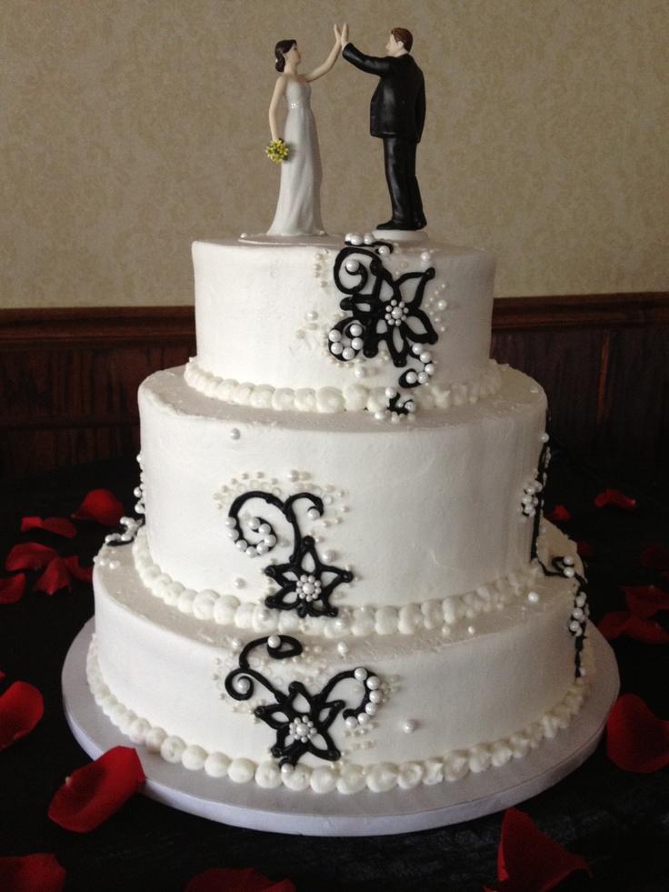 Black and White Wedding cake!White Wedding Cake, Weddingcake