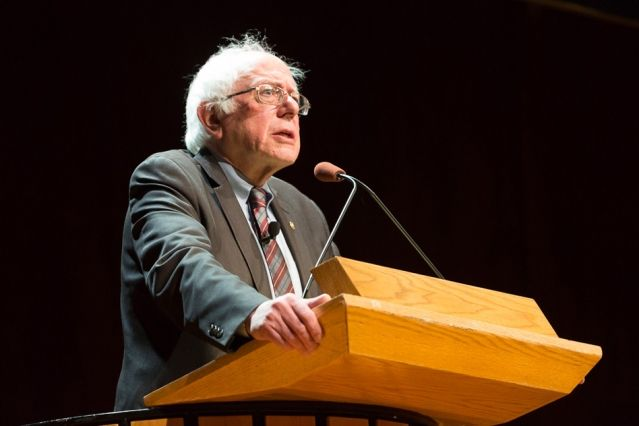 In a March 31 talk at MIT, U.S. Senator Bernie Sanders discussed his experiences as a presidential candidate and his thoughts about the political process.