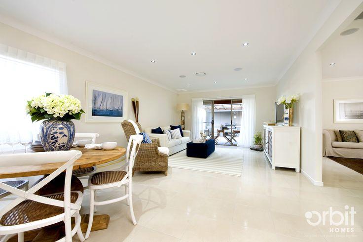 The vast open plan living area