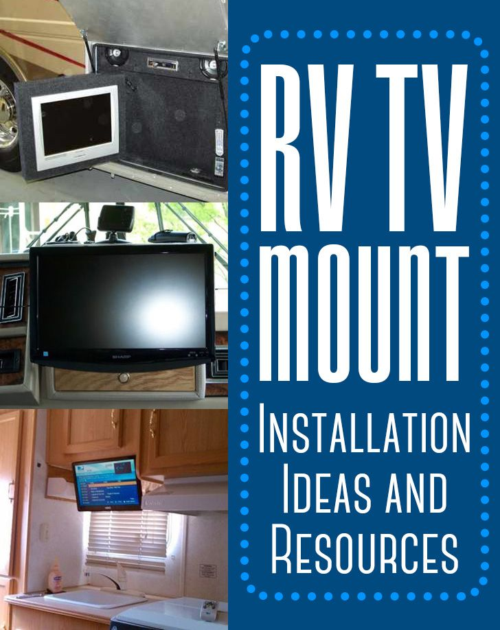 We have compiled some of the common installation techniques used for various RV TV Mounts for every nook and cranny of your RV. Pictures and Information.