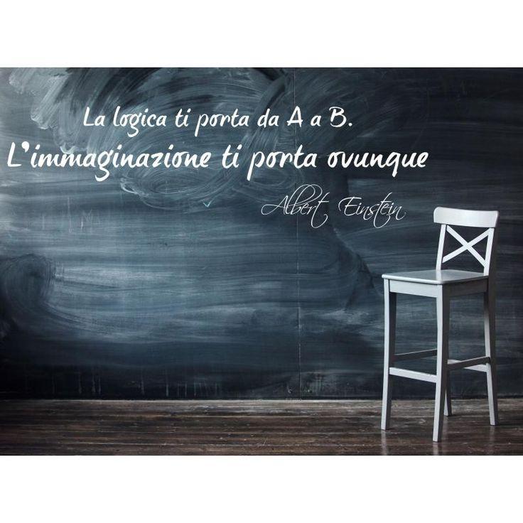 Adesivi da parete Albert Einstein ''L'immaginazione ti porta ovunque''-