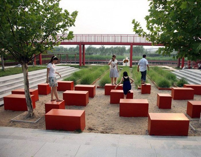 Urban park urban park outdoor decor activities for Red landscape architects