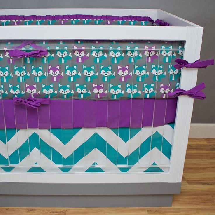 Foxy Baby Girl Crib Bedding