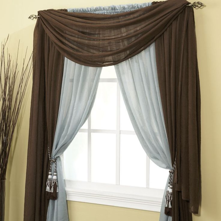 12 best ways to hang a scarf valance images on pinterest shades scarf valance and curtains. Black Bedroom Furniture Sets. Home Design Ideas