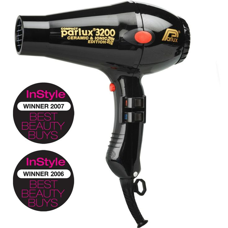 Parlux 3200 Ionic  Ceramic Compact Hair Dryer - Black RRP $174.95
