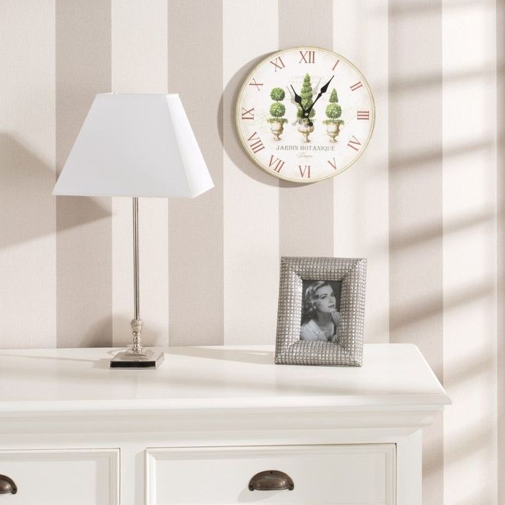 #zegar #clock #watch #decoration #dekoracje  #home #interior #design #ideas Zegar Jardin Botanique, śr. 34cm, o34cm - Dekoria