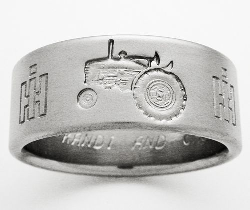 Tractor Wedding Band. This is sooo cool!!!!!