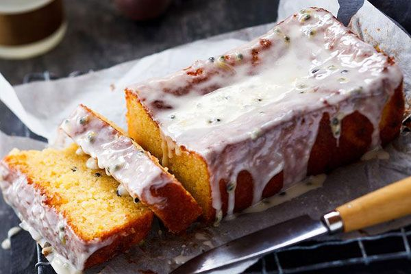 Gluten-free passionfruit and lemon loaf