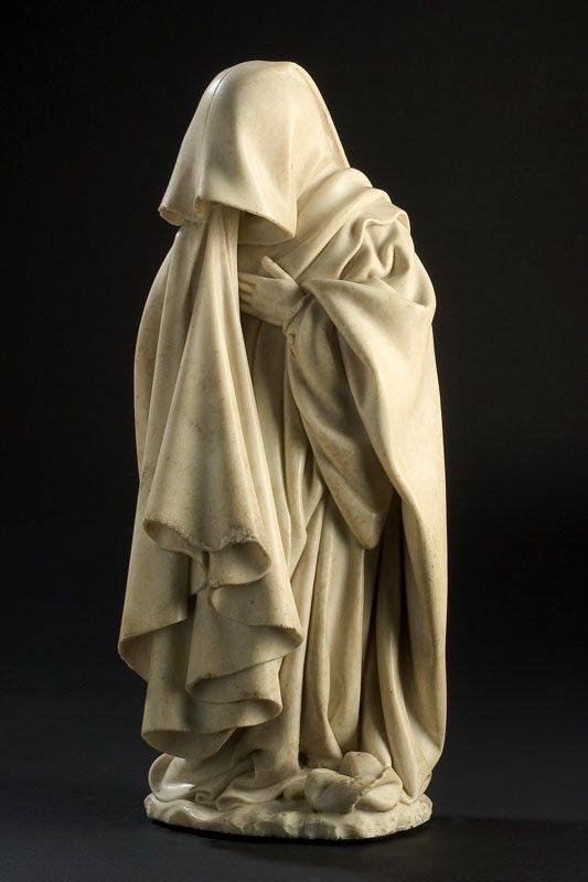 "Well, there's beautiful statuary, then there's overkill with the drapery.  Makes me want to say ""Some days I don't want to get out from under the covers either."""