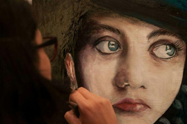 Niña afgana #niña #painting #oleo #proceso #girl #pintura