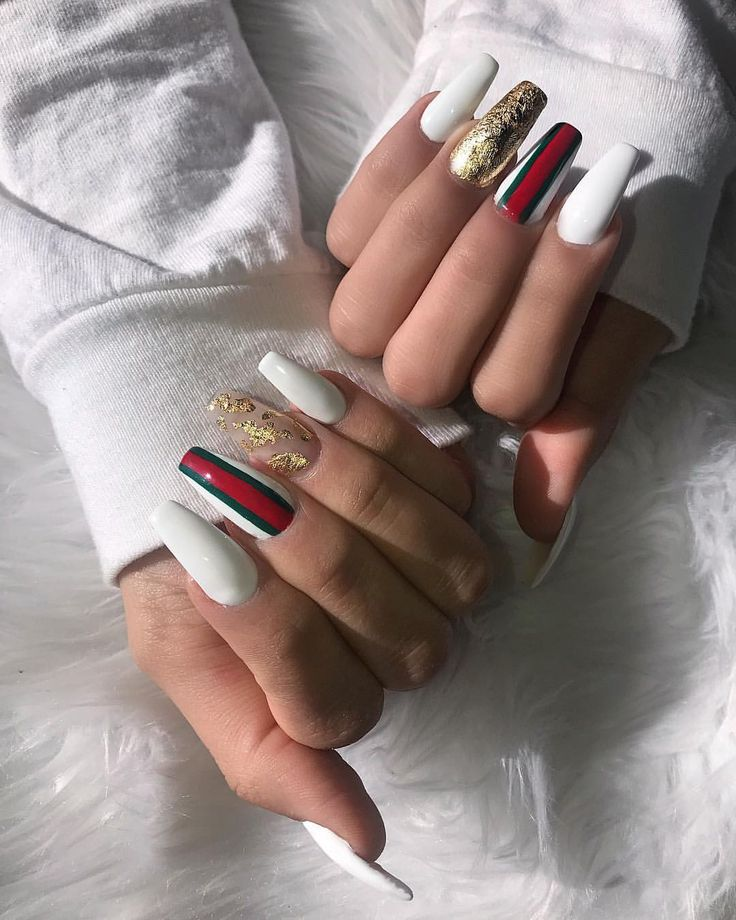 """3,625 Likes, 67 Comments - Janelle Mughannam (@cocojanelle_) on Instagram: """"When you can't afford anything Gucci so you get the nails instead #gucci inspired nails done by…"""""""
