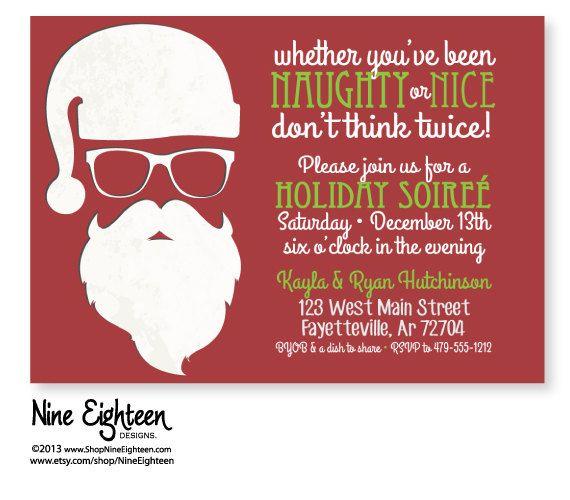 Naughty Or Nice Christmas Invitation Wording