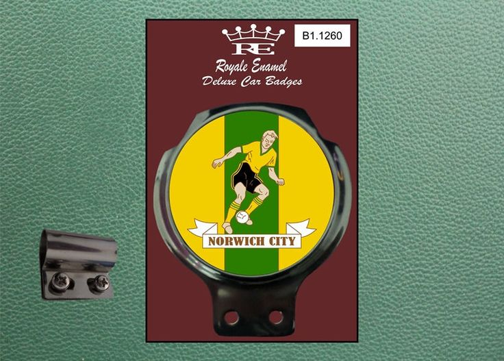 Royale Classic Car Badge & Bar Clip NORWICH FOOTBALL 1960s Ulma Vigano B1.1260