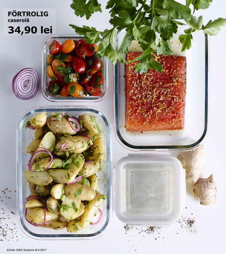 În caserola FÖRTROLIG poți să pregătești mâncarea iar dacă mai rămâne o poți pune direct în frigider, pentru mai târziu.