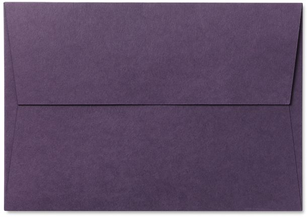 Bespoke Envelopes / Illustrated: C5 Walletbr/ 162 x 229 mmbr/ Colorplan Amethystbr/ 270 gsm / High quality envelopes can be produced in every Colorplan shade. C6 and DL formats are machine-made, and flaps can be either gummed or 'peel and seal'. DL 'peel and seal' window envelopes are also available. Non-standard bespoke formats, from business card size up to C3, are handmade in Pocket or Wallet styles with a 'peel and seal' flap or Topless / on TTL Design