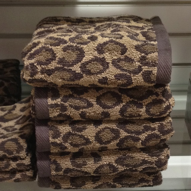 Best Towels Images On Pinterest Bathroom Ideas Chanel - Leopard towels for small bathroom ideas