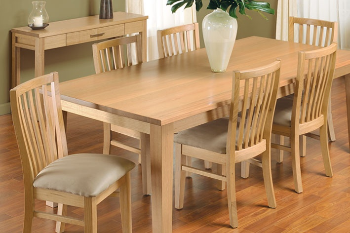 Victorian Ash 7 piece dining settingTable Size: 2100 x 1050mm $1899