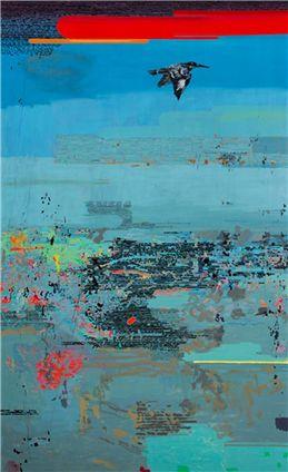 Clive van den Berg, A Kingfisher Passes