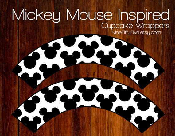 Instant download mickey mouse inspired cupcake by for Giant cupcake liner template