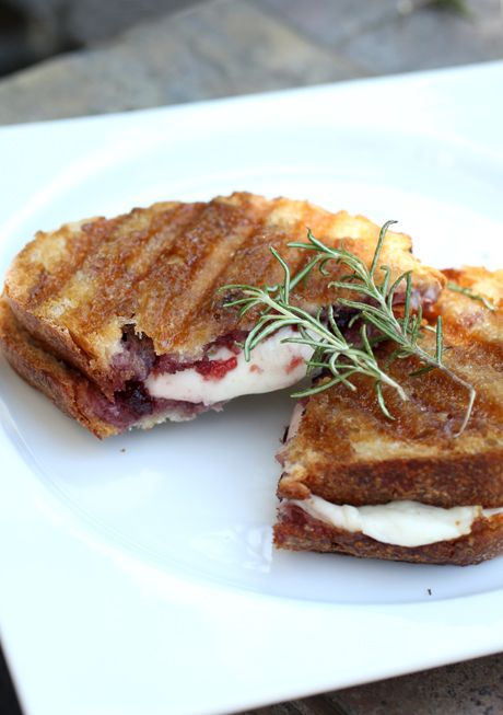 Giada's Mozzarella, Raspberry and Brown Sugar Panini