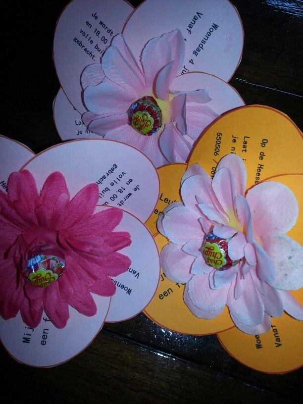 uitnodiging voor een bloemenfeestje