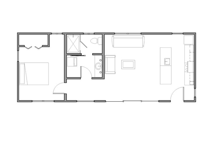 floor plan of la arboleda retreat cabin by reclaimed space looks like 15 x40 600 sq ft wanna