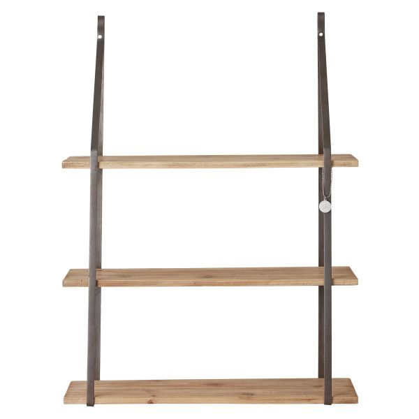 Industrial Hanging Shelf (970 RON) ❤ liked on Polyvore featuring home, home decor, small item storage and industrial home decor
