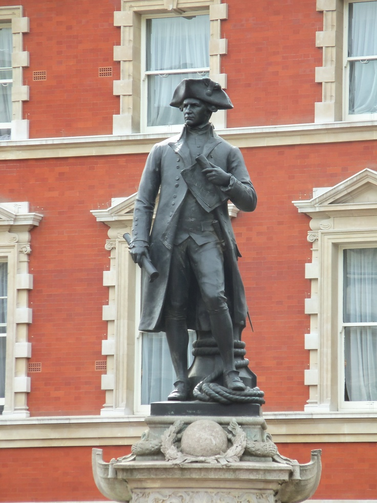 Captain James Cook.  In front of the Admiralty Arch.  London, England.  (My daughter's photo). http://en.wikipedia.org/wiki/James_Cook