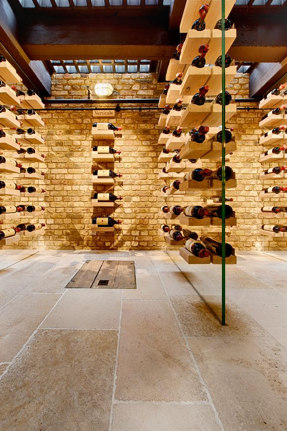 Funky wine cellar
