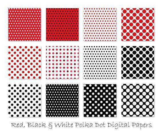 Red W Black Polka Dots Happydance Polka Dots Wallpaper Polka Dots Red And Black Wallpaper