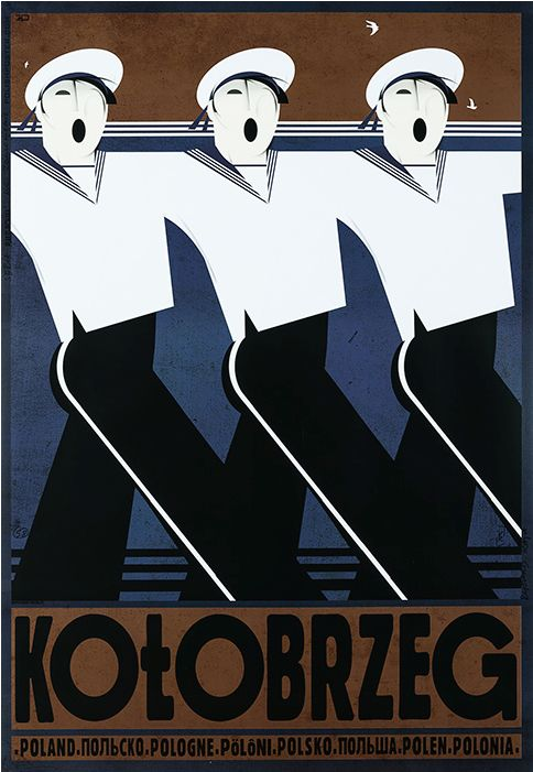 Polish Travel Poster by Ryszard Kaja (b. 1962), 2013, Kolobrzeg. (West Pomeranian Voivodeship in north-western Poland)