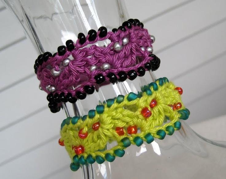 357 best crochet bracelets & cuffs free pattern images on Pinterest ...