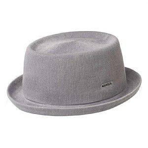 Kangol Bamboo Mowbray Pork Pie Hat - Grey