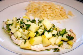 Невыразимая легкость кулинарного бытия...: Куриное филе с яблочной сальсой