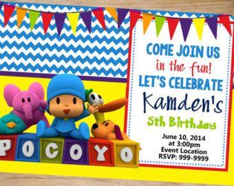 Invitación de Pocoyo Pocoyo cumpleaños partido por Wrightdrawing