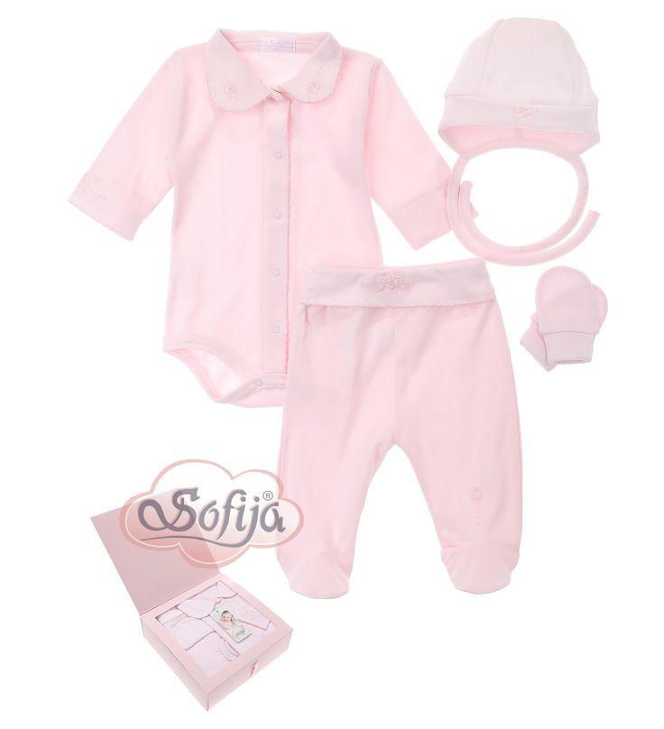 4-częściowy komplet dla dziecka z delikatnej bawełny Supima  www.sofija.com.pl  #babyshower #babygift #kinder #babygeschenk #kids #baby #dziecko #prezent #niemowlak #wyprawka #sofija #ubranka #подарокребенку #ребенок