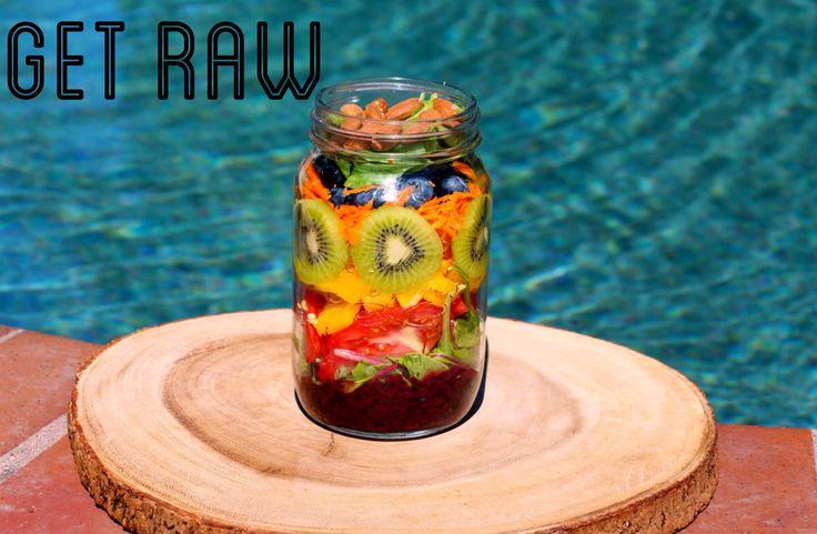 GET RAW- Rainbow Salad in a Jar!