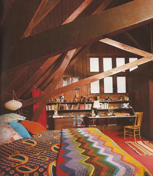 : Design Homes, Attic Bedrooms, Decoration, Color, Attic Rooms, Dream Bedrooms, Homes Interiors, Woods Beams, Dream Rooms