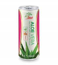 Real Aloe vera drink with Peach flavour in canada - Natural Beverage Manufacturers NFC